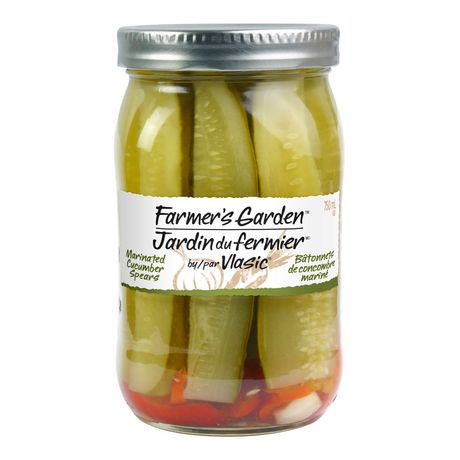 Vlasic farmer 39 s garden marinated cucumber spears walmart canada for Vlasic farmer s garden pickles