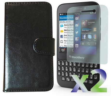 buy popular 44054 52fed Exian Leather Wallet Case for Blackberry Q5 | Walmart Canada