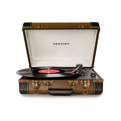 Crosley Executive USB Enabled 3-Speed Portable Record Player Turntable, Black - image 1 de 4
