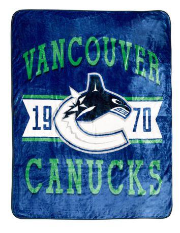 NHL Luxury Velour Blanket- Vancouver Canucks - image 1 of 1