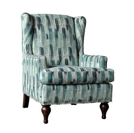 Brassex Inc Adelle Accent Chair Blue Walmart Canada