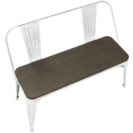 banc de ferme industriel oregon pour d ner entr e de lumisource walmart canada. Black Bedroom Furniture Sets. Home Design Ideas