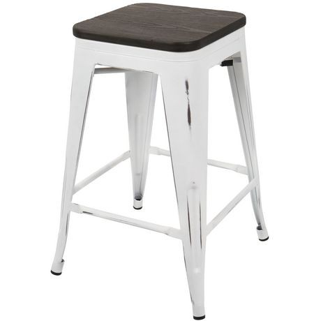 tabouret de comptoir empilable industriel oregon de lumisource ensemble de 2 walmart canada. Black Bedroom Furniture Sets. Home Design Ideas