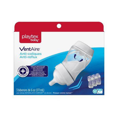 Biberons VentAireMD de Playtex BabyMC avec tétines en silicone NATURALATCH(MD) - image 1 de 8