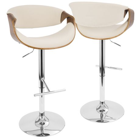 design de qualité c215f 15679 Tabouret de bar ajustable moderne milieu-du-siècle Curvo, de LumiSource