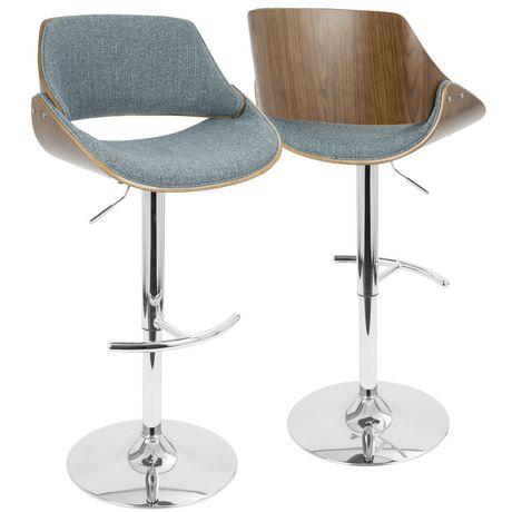 mid century modern bar stools. Fabrizzi Height Adjustable Mid-century Modern Barstool By LumiSource Mid Century Bar Stools