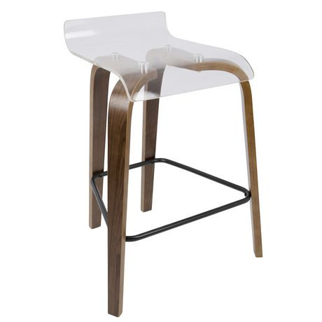tabouret de comptoir contemporain clarity 66cm de lumisource walmart canada. Black Bedroom Furniture Sets. Home Design Ideas