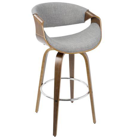 mid century modern bar stools. Curvini Mid-Century Modern Barstool By LumiSource Mid Century Bar Stools