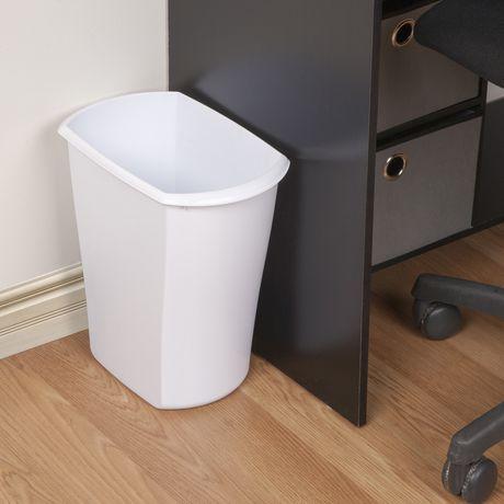 Sterilite 11.4 Liter Rectangular White Wastebasket - image 2 of 2