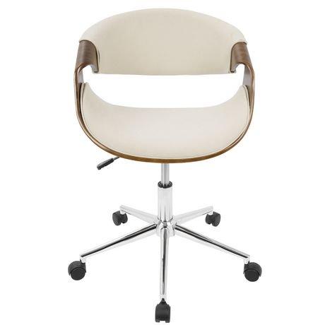 chaise de bureau moderne milieu du si cle curvo de lumisource walmart canada. Black Bedroom Furniture Sets. Home Design Ideas
