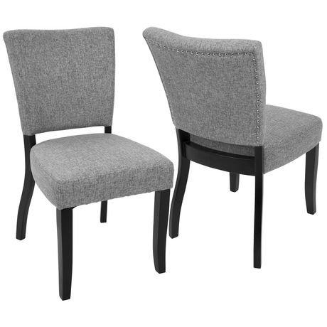 Chaise de salle manger contemporaine vida avec bordure clout e de lumisource walmart canada - Chaise de salle a manger contemporaine ...