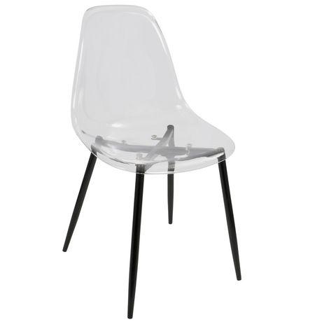 Clara Mid Century Modern Dining Chair By Lumisource Walmart Canada