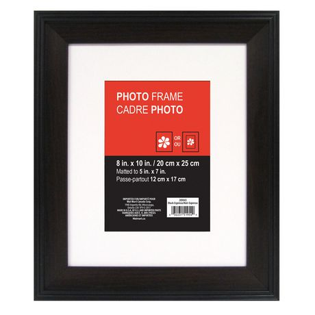 Hayes matted black espresso photo frame walmart canada reheart Gallery