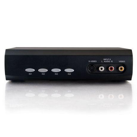 Commutateur de sélection audio/stéréo S-Vidéo 4x2 + Vidéo composite de Cables To Go - image 2 de 4
