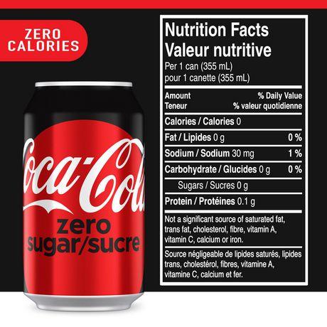 Coca Cola Zero Sugar 355ml Cans 12 Pack Walmart Canada
