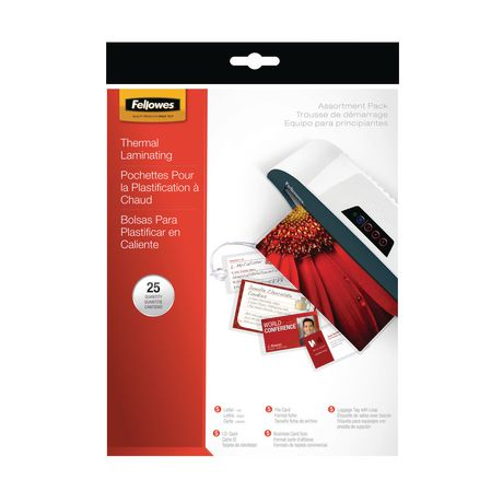 Fellowes® Assorted Laminating Pouches, 25/pk - image 1 of 2