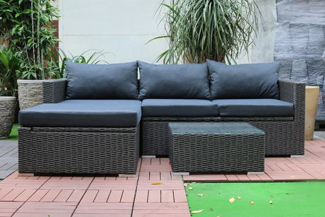 Patio Flare Emmett Deep Seating Sofa Sectional Set with Storage : emmett sectional - Sectionals, Sofas & Couches