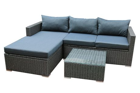 Patio Flare Emmett Deep Seating Sofa Sectional Set with Storage  sc 1 st  Walmart Canada : emmett sectional - Sectionals, Sofas & Couches