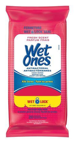 Serviettes préhumectées et antibactériennes Wet Ones pour mains et visage au parfum frais - image 1 de 1