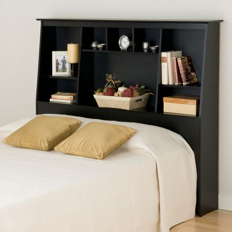 dossier de lit haut profil inclin et compartiments de. Black Bedroom Furniture Sets. Home Design Ideas