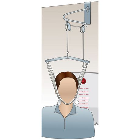 Medpro Cervical Traction Device Over The Door White