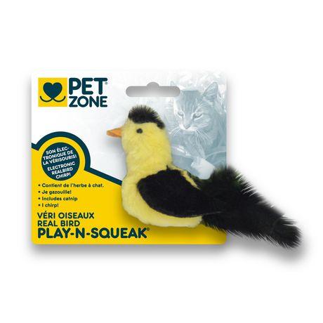 Pet Zone Play'nsqueak Bird CAT Toy - image 1 of 2