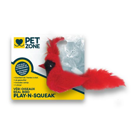 Pet Zone Play'nsqueak Bird CAT Toy - image 2 of 2