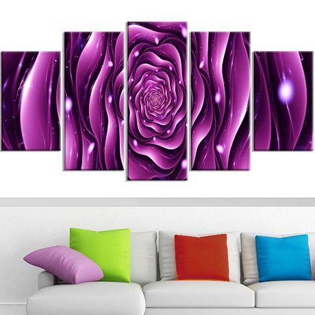 D coration murale sur toile design art motif de rose for Decoration murale walmart