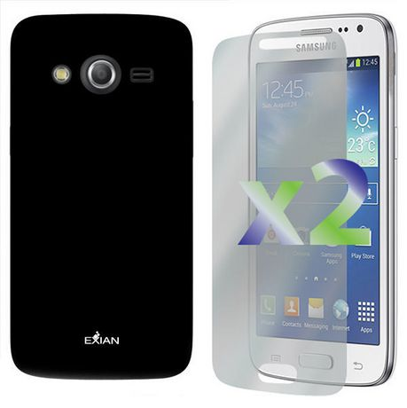 Exian Solid Case for Samsung Galaxy Core LTE - Black - image 1 of 1