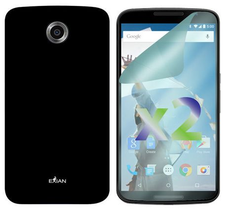 the latest 5d350 1011d Exian Solid Case For Motorola Nexus 6 - Black