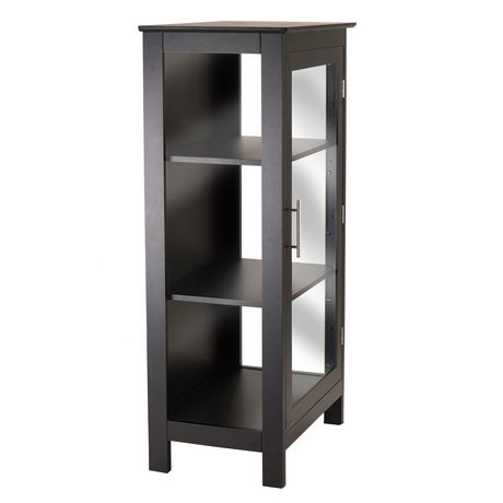 Winsome Poppy Display Cabinet With Glass Door In Black Finish   20523    Image 2 Of ...