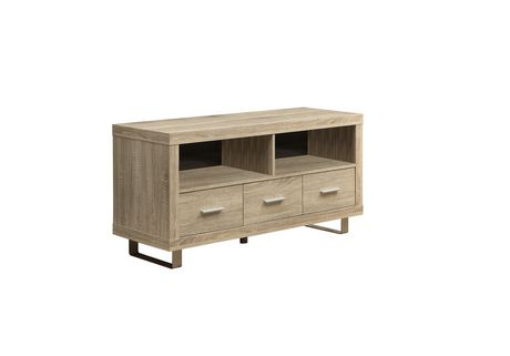 Monarch Specialties Natural Reclaimed-Look TV Console with 3 Drawers - image 1 of 2