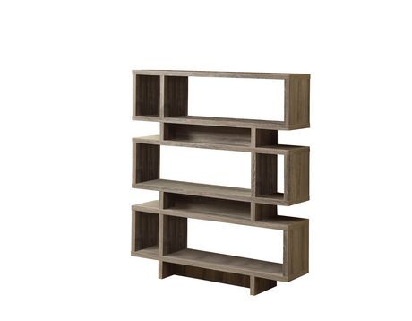 Monarch Bibliotheque Moderne 55 po H Style Vieux Bois Taupe Fonce ...