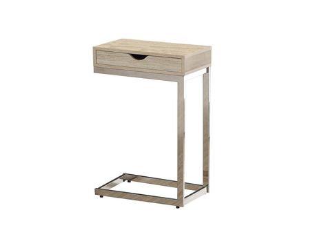 Table d 39 appoint monarch specialties en naturel chrome for Table d appoint salon