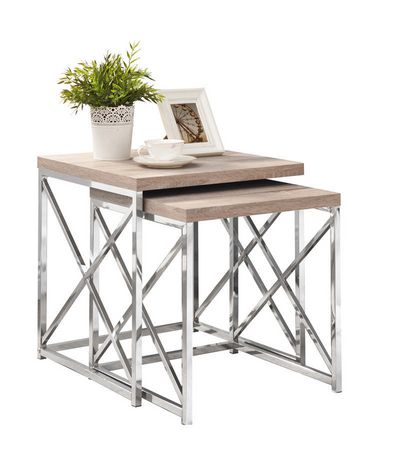 Tables gigognes monarch specialities de style vieux bois for Table exterieur walmart