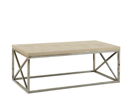 chrome coffee table. Monarch Specialties Natural/Chrome Coffee Table Chrome 2