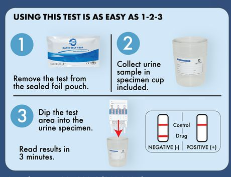 Home Drug Test Kits Home Drug Test Kit - 4 Drugs - image 3 of 3
