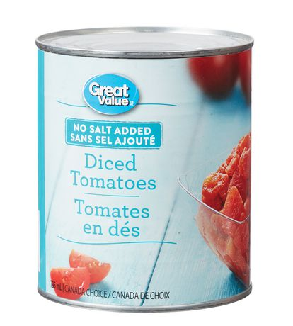 Great Value No Salt Added Diced Tomatoes - image 1 of 2