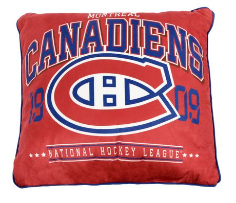 Coussin authentique d 39 quipe lnh montreal canadiens for Walmart meuble montreal