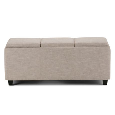 wyndenhall franklin extra large rectangular storage ottoman with 3 serving trays walmart canada. Black Bedroom Furniture Sets. Home Design Ideas