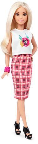 Barbie Fashionistas 31 Rock 'n' Roll Plaid Petite Doll - image 1 of 6