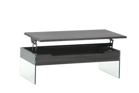 brassex arielle coffee table with lift top storage grey walmart canada. Black Bedroom Furniture Sets. Home Design Ideas
