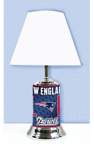 Logo chair nfl new england patriots table lamp walmart canada mozeypictures Gallery