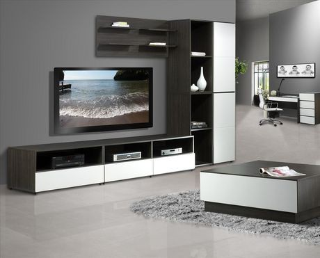 nexera allure 60 tv stand walmart canada. Black Bedroom Furniture Sets. Home Design Ideas