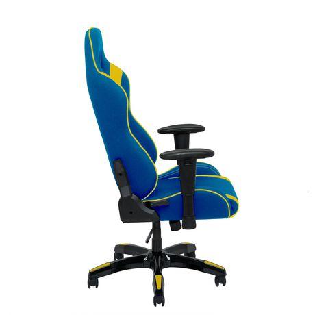 Corliving Blue And Yellow High Back Ergonomic Gaming Chair Walmart
