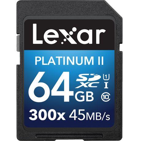 LEXAR MEDIA INC Lexar® Platinum II 300x SDHC™/SDXC™ UHS-I Cards 64GB - image 1 of 1