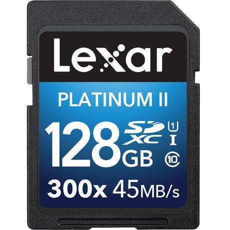 LEXAR MEDIA INC Lexar® Platinum II 300x SDXC™ UHS-I 128GB - image 1 of 1