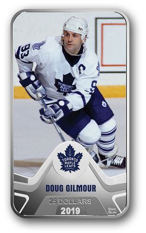 NHL® Original Six™: Toronto Maple Leafs®: Doug Gilmour - Pure Silver Coin - image 1 of 4