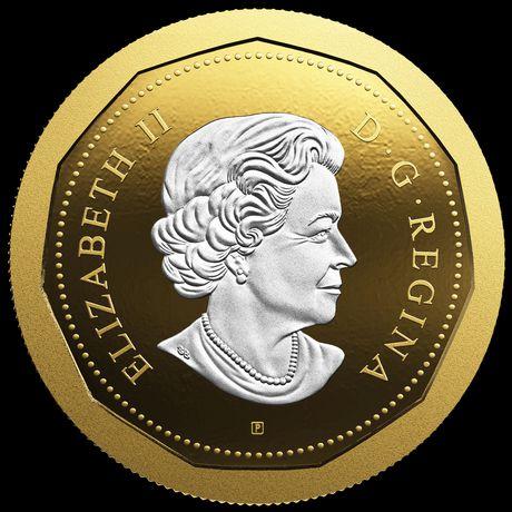 1997 Canada Flying Loon Dollar Mint Coin Commemorating 10 Years Of Loon Dollar.