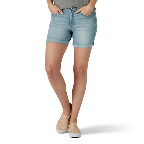 Lee Riders Women's Denim Cuffed Short Light Wash 6M